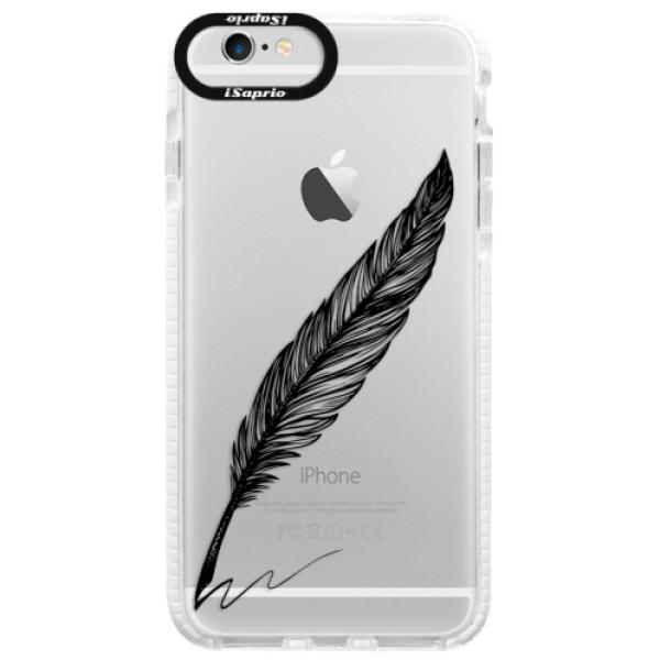Silikónové púzdro Bumper iSaprio - Writing By Feather - black - iPhone 6 Plus/6S Plus
