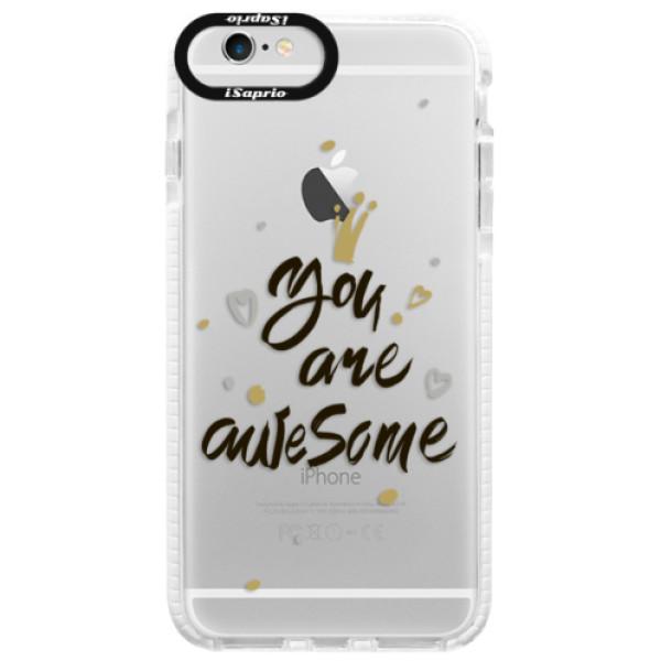 Silikónové púzdro Bumper iSaprio - You Are Awesome - black - iPhone 6 Plus/6S Plus