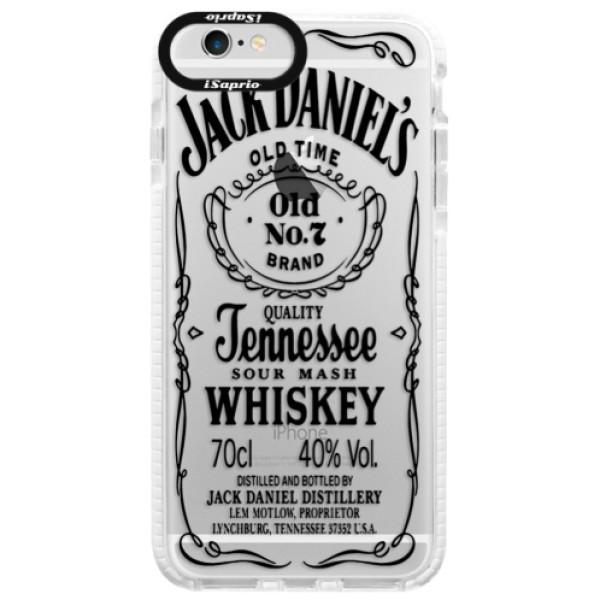 Silikónové púzdro Bumper iSaprio - Transparent Black Jack - iPhone 6 Plus/6S Plus