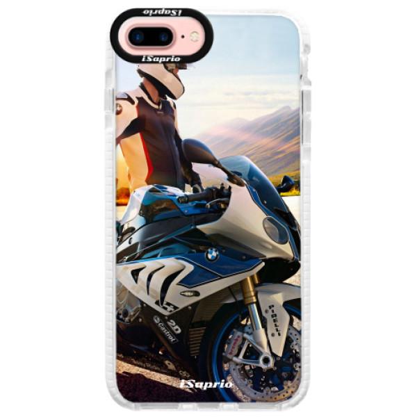 Silikónové púzdro Bumper iSaprio - Motorcycle 10 - iPhone 7 Plus