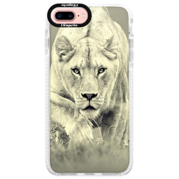Silikónové púzdro Bumper iSaprio - Lioness 01 - iPhone 7 Plus