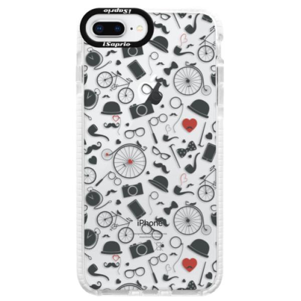 Silikónové púzdro Bumper iSaprio - Vintage Pattern 01 - black - iPhone 8 Plus