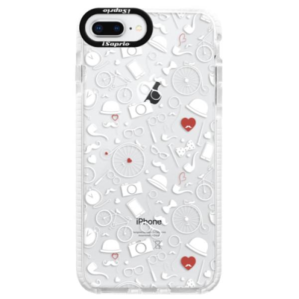 Silikónové púzdro Bumper iSaprio - Vintage Pattern 01 - white - iPhone 8 Plus