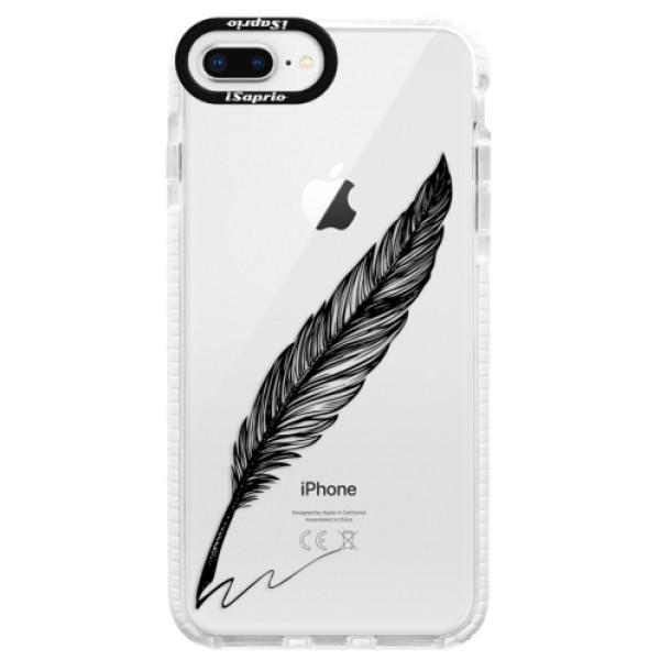 Silikónové púzdro Bumper iSaprio - Writing By Feather - black - iPhone 8 Plus