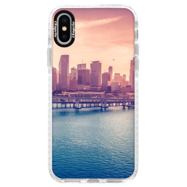Silikónové púzdro Bumper iSaprio - Morning in a City - iPhone X