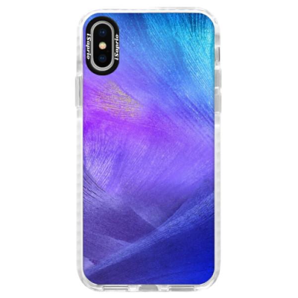 Silikónové púzdro Bumper iSaprio - Purple Feathers - iPhone X