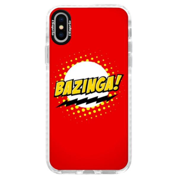Silikónové púzdro Bumper iSaprio - Bazinga 01 - iPhone X