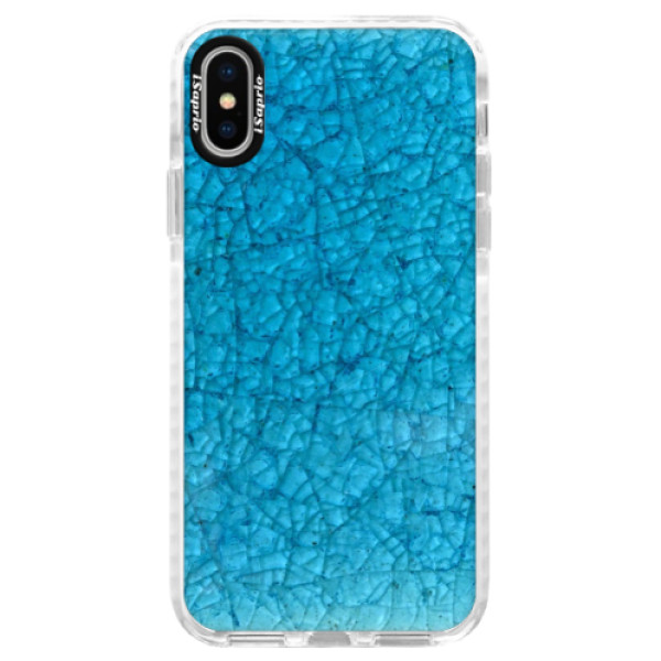 Silikónové púzdro Bumper iSaprio - Shattered Glass - iPhone X