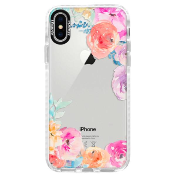 Silikónové púzdro Bumper iSaprio - Flower Brush - iPhone X