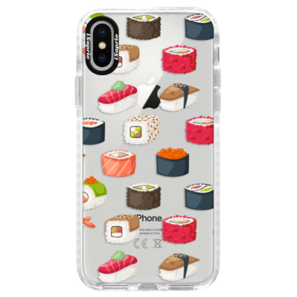 Silikónové púzdro Bumper iSaprio - Sushi Pattern - iPhone X