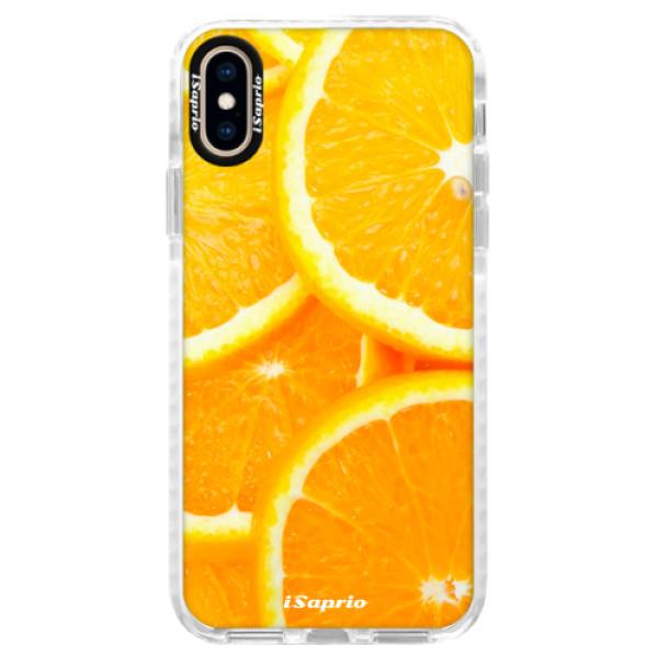 Silikónové púzdro Bumper iSaprio - Orange 10 - iPhone XS