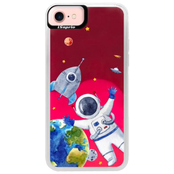 Neónové púzdro Pink iSaprio - Space 05 - iPhone 7