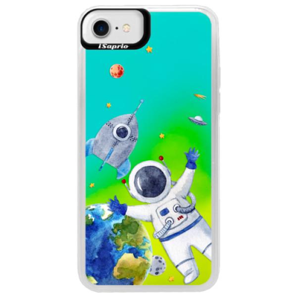 Neónové puzdro Blue iSaprio - Space 05 - iPhone 7
