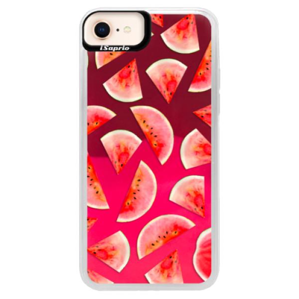 Neónové púzdro Pink iSaprio - Melon Pattern 02 - iPhone 8