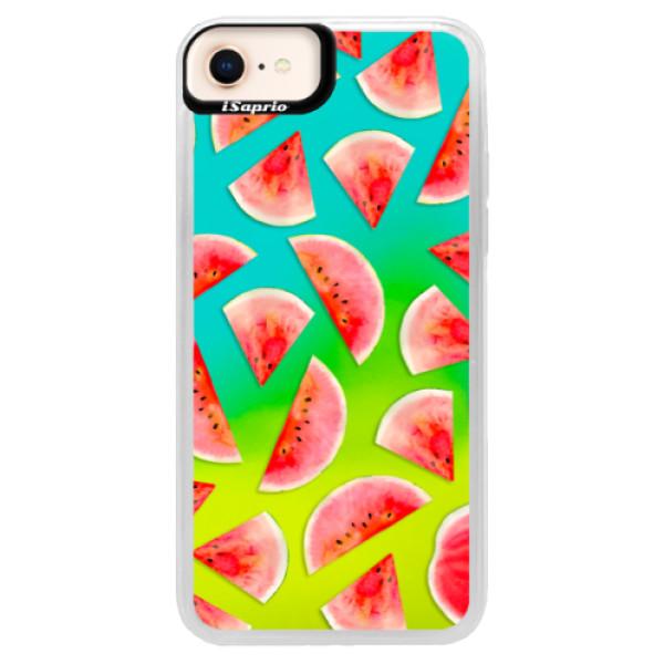 Neónové puzdro Blue iSaprio - Melon Pattern 02 - iPhone 8