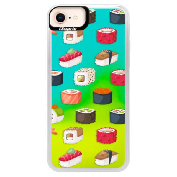 Neónové puzdro Blue iSaprio - Sushi Pattern - iPhone 8