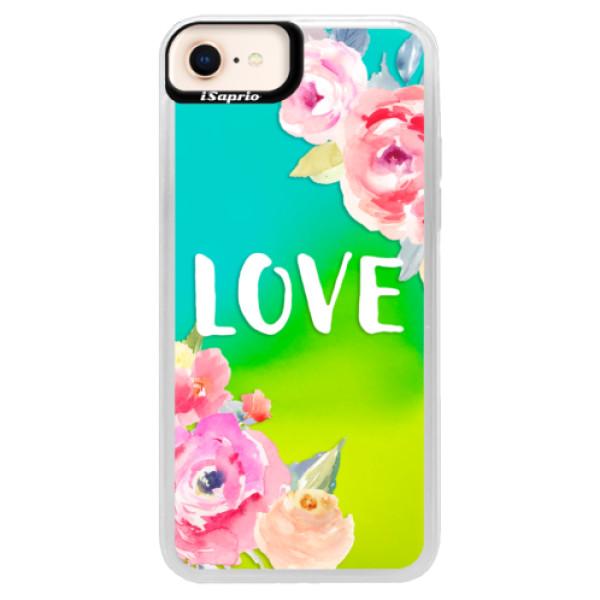 Neónové puzdro Blue iSaprio - Love - iPhone 8