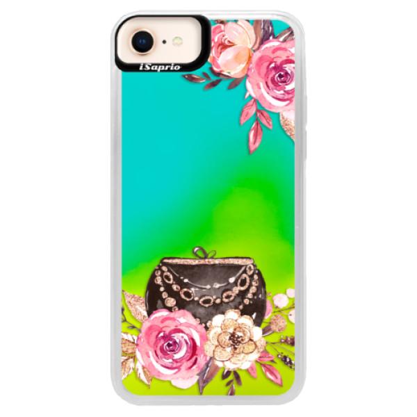 Neónové puzdro Blue iSaprio - Handbag 01 - iPhone 8