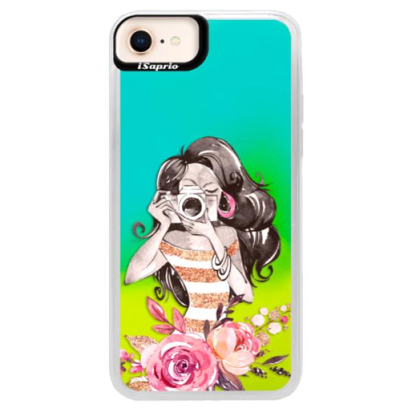Neónové puzdro Blue iSaprio - Charming - iPhone 8