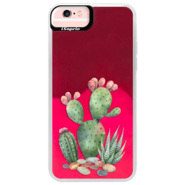 Neónové púzdro Pink iSaprio - Cacti 01 - iPhone 6 Plus/6S Plus