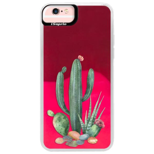 Neónové púzdro Pink iSaprio - Cacti 02 - iPhone 6 Plus/6S Plus