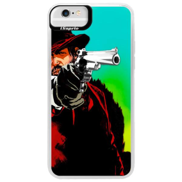 Neónové puzdro Blue iSaprio - Red Sheriff - iPhone 6 Plus/6S Plus