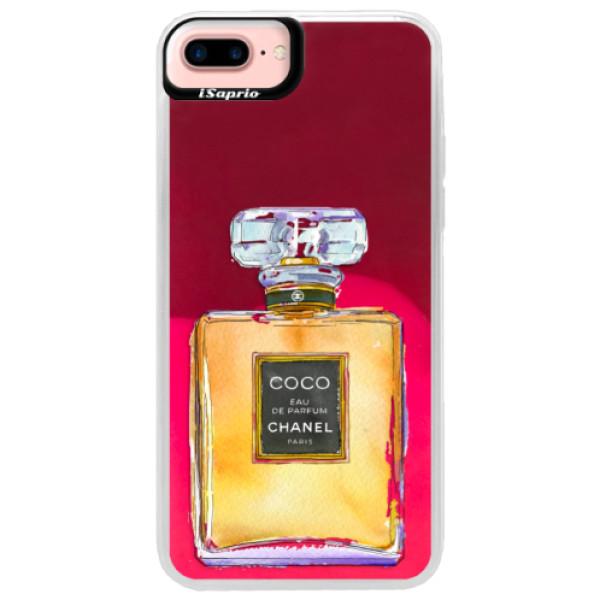 Neónové púzdro Pink iSaprio - Chanel Gold - iPhone 7 Plus
