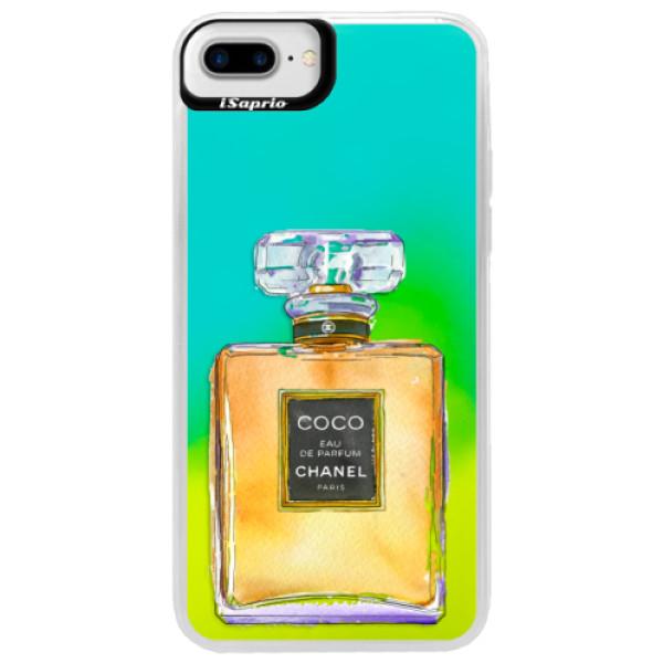 Neónové puzdro Blue iSaprio - Chanel Gold - iPhone 7 Plus