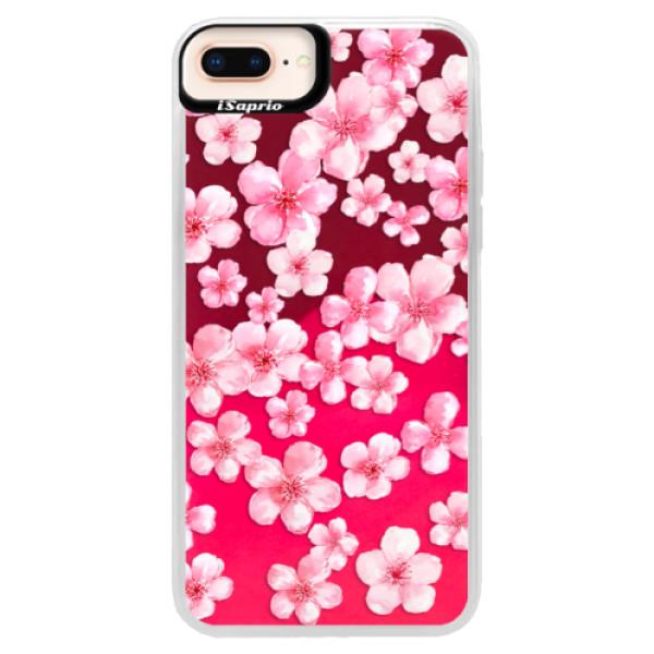 Neónové púzdro Pink iSaprio - Flower Pattern 05 - iPhone 8 Plus