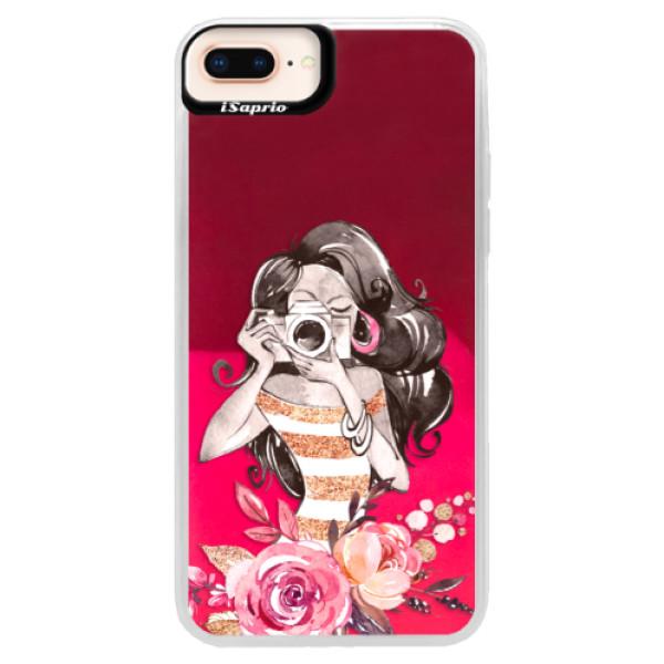 Neónové púzdro Pink iSaprio - Charming - iPhone 8 Plus