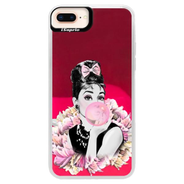 Neónové púzdro Pink iSaprio - Pink Bubble - iPhone 8 Plus