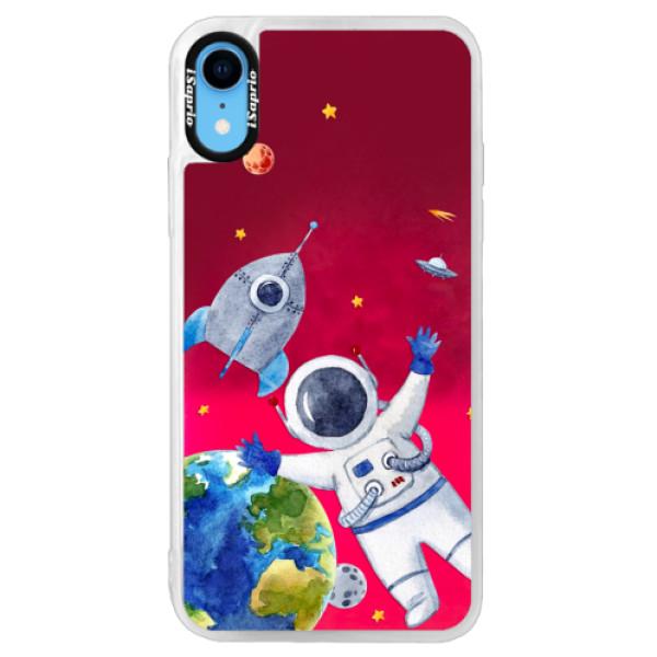 Neónové púzdro Pink iSaprio - Space 05 - iPhone XR