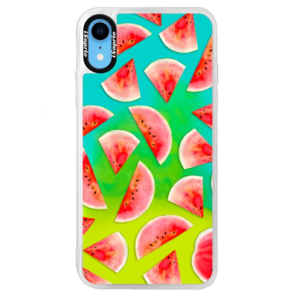 Neónové puzdro Blue iSaprio - Melon Pattern 02 - iPhone XR