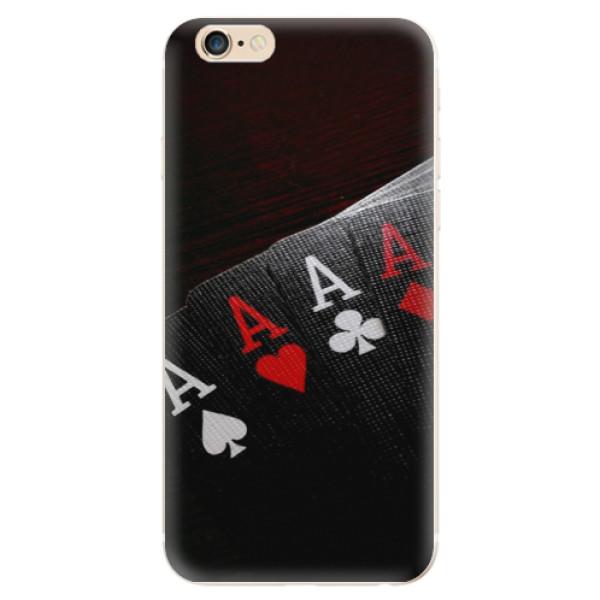Odolné silikónové puzdro iSaprio - Poker - iPhone 6/6S