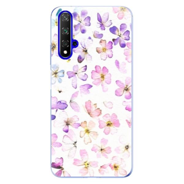 Odolné silikónové puzdro iSaprio - Wildflowers - Huawei Honor 20
