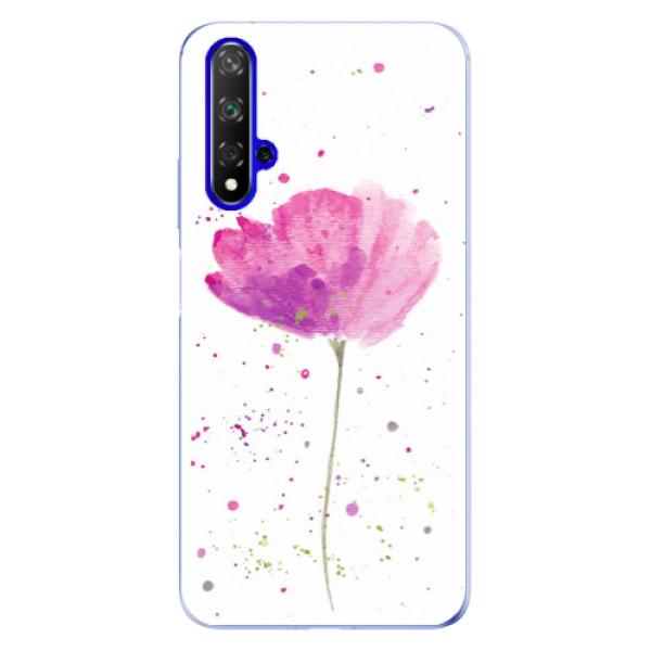 Odolné silikónové puzdro iSaprio - Poppies - Huawei Honor 20
