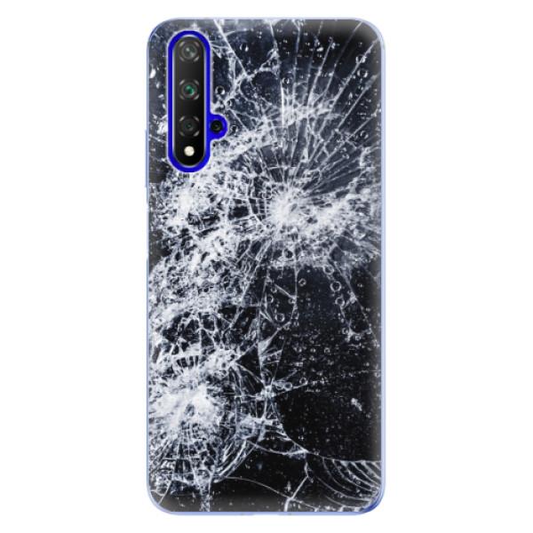 Odolné silikónové puzdro iSaprio - Cracked - Huawei Honor 20
