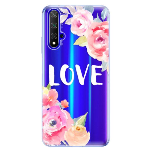 Odolné silikónové puzdro iSaprio - Love - Huawei Honor 20