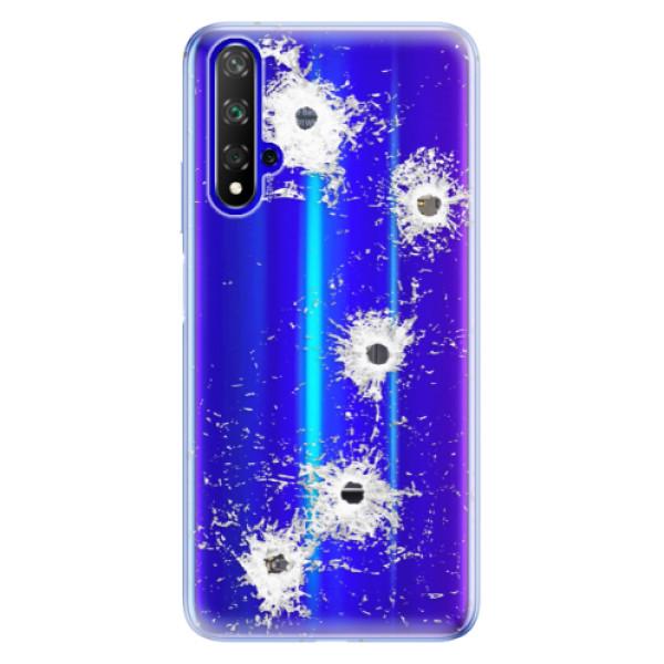 Odolné silikónové puzdro iSaprio - Gunshots - Huawei Honor 20