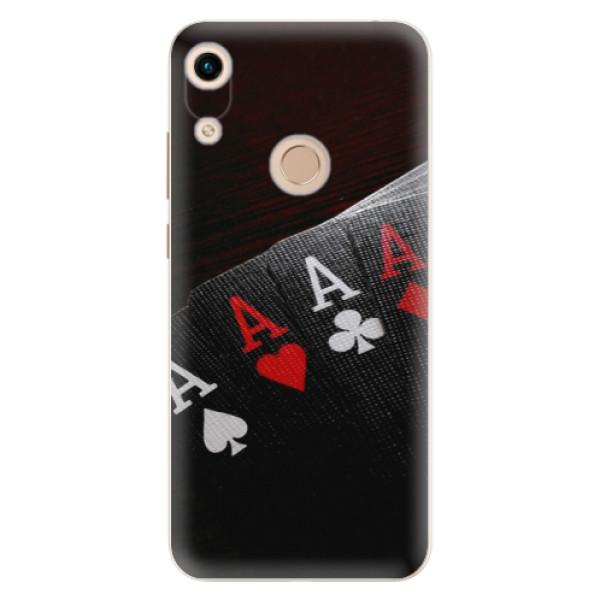 Odolné silikónové puzdro iSaprio - Poker - Huawei Honor 8A