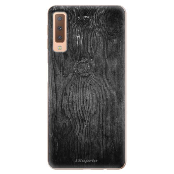 Odolné silikónové puzdro iSaprio - Black Wood 13 - Samsung Galaxy A7 (2018)
