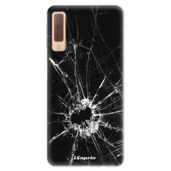 Odolné silikónové puzdro iSaprio - Broken Glass 10 - Samsung Galaxy A7 (2018)