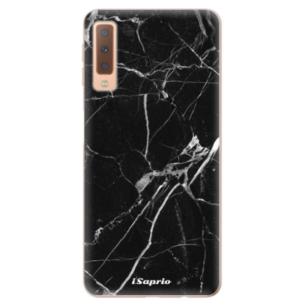 Odolné silikónové puzdro iSaprio - Black Marble 18 - Samsung Galaxy A7 (2018)