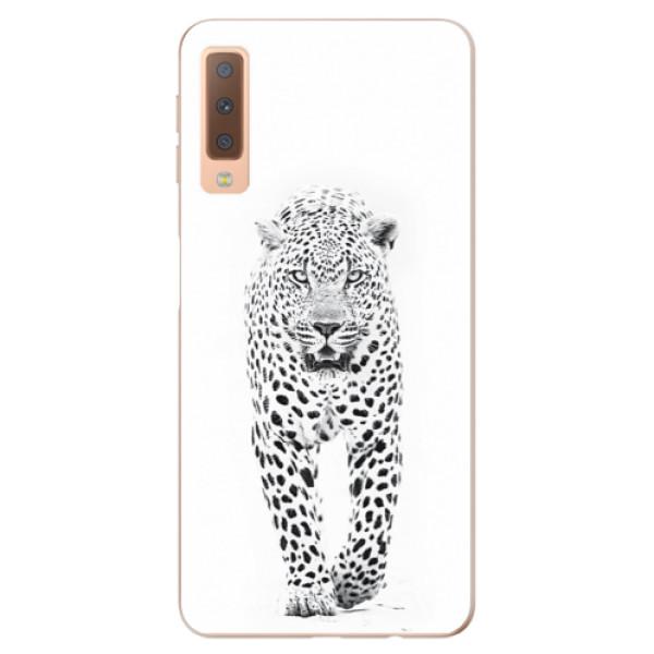 Odolné silikónové puzdro iSaprio - White Jaguar - Samsung Galaxy A7 (2018)