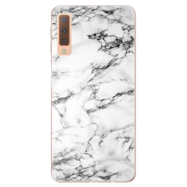 Odolné silikónové puzdro iSaprio - White Marble 01 - Samsung Galaxy A7 (2018)