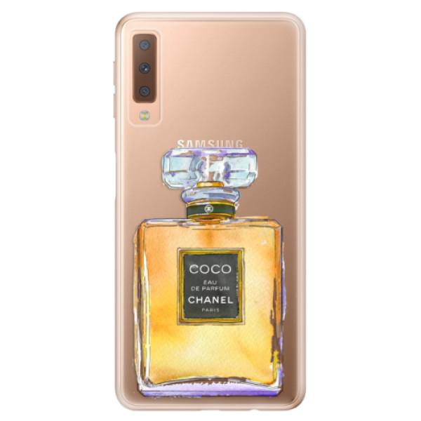 Odolné silikónové puzdro iSaprio - Chanel Gold - Samsung Galaxy A7 (2018)