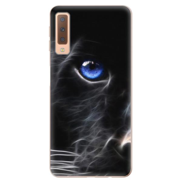 Odolné silikónové puzdro iSaprio - Black Puma - Samsung Galaxy A7 (2018)