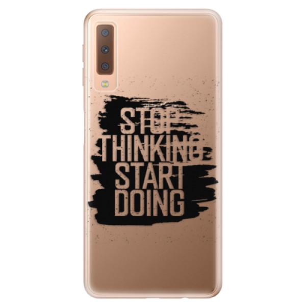Odolné silikónové puzdro iSaprio - Start Doing - black - Samsung Galaxy A7 (2018)