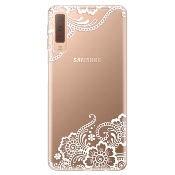 Odolné silikónové puzdro iSaprio - White Lace 02 - Samsung Galaxy A7 (2018)