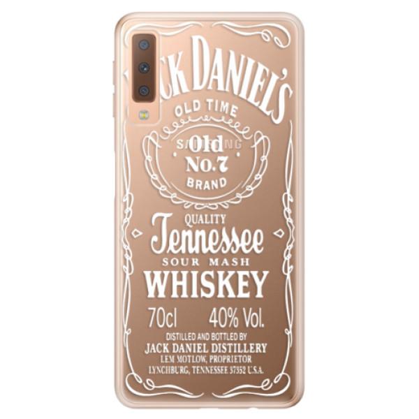 Odolné silikónové puzdro iSaprio - Transparent White Jack - Samsung Galaxy A7 (2018)